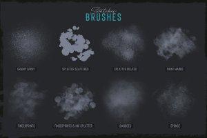 素描卡通3D渲染笔刷 Grunge Toolbox Procreate Brushes插图4