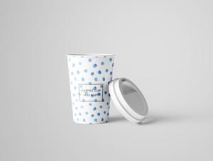 7个咖啡纸杯设计图PSD样机模板 7 PSD Coffee Cup Mockups插图7