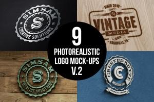 多应用场景复古品牌Logo设计样机模板 Photorealistic Logo Mock-Ups Vol.2插图1
