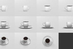 逼真咖啡杯马克杯样机模板 Coffee Cup Mockup插图15