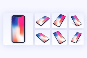 一流设计素材网下午茶:7款最受欢迎的iPhone X Clay模型 Mockups插图9