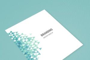 企业品牌办公用品样机模板 Branding Identity Mock Up – Teal Tirangles插图6