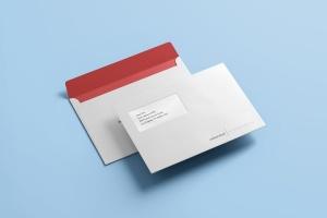 公司/企业信封设计样机模板 Envelope C5 / C6 Mock-up插图1