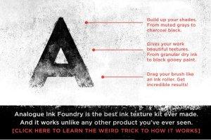 橡胶墨辊印刷效果图层样式 Analog Ink Foundry – PSD Print Kit插图2