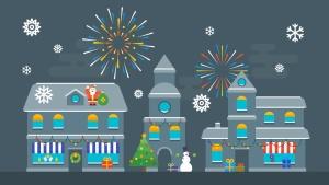 圣诞节&新年庆祝主题矢量插画素材 Christmas & New Year Illustrations插图7