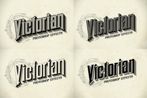 12种复刻十九世纪文本图层样式 Photoshop Victorian Styles插图2