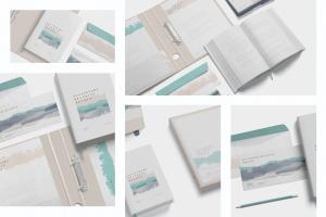 企业品牌VI设计预览办公用品样机模板 Stationery Branding Mockup Scenes插图2