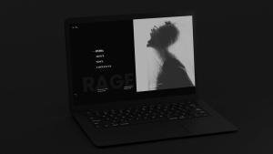 黑色超级笔记本屏幕预览样机模板 Black Laptop Mockup插图3