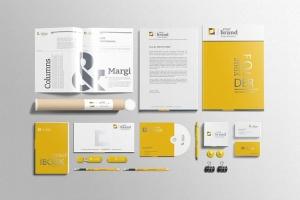 企业品牌VI办公用品样机设计模板V3 Branding-Stationery Mockups V3插图3