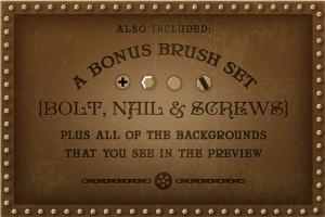 蒸汽朋克艺术风格文本样式、笔刷和背景合集 Steam Punk Text Styles, Brushes and Backgrounds插图4
