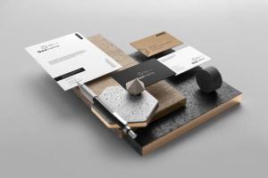 专业的时尚高端轻奢质感房地产品牌设计VI样机展示模型mockups插图5