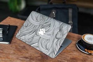 Macbook A面定制外观样机模板 MacBook Skin Mock-Up插图8