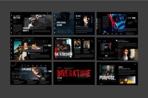 潮时尚酷黑背景Keynote幻灯片模板下载 Hypetone – Keynote插图10