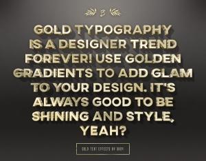 3D金色金属文本文字特效PSD分层模板 3D Gold Text Effects – 10 PSD插图3