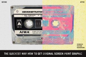 复古影印打印风格图层样式 Misprinter for Adobe Photoshop插图4