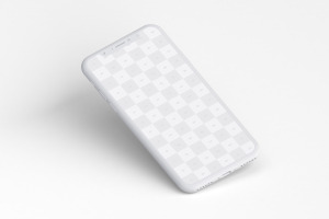 iPhone X苹果手机屏幕设计演示样机01 Clay iPhone X Mockup 01插图5