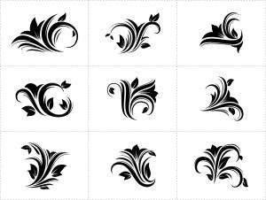 花卉装饰设计元素素材 Floral Decorative Design Elements插图1
