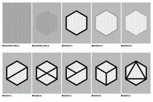 等距网格效果PSD分层模板 Isometric Grid Effects插图2