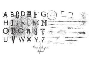 复古怪诞时尚设计矢量素材包 Vintage Eccentric Designers Toolkit插图7