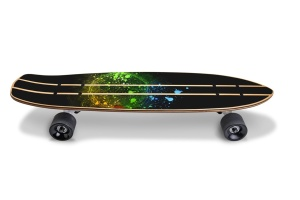 滑板顶部设计正面预览图样机02 Skate_Board-02_Mockup插图3