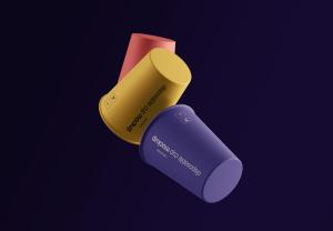 一次性水杯外观设计效果图样机模板 Gravity Cups Mockup插图1