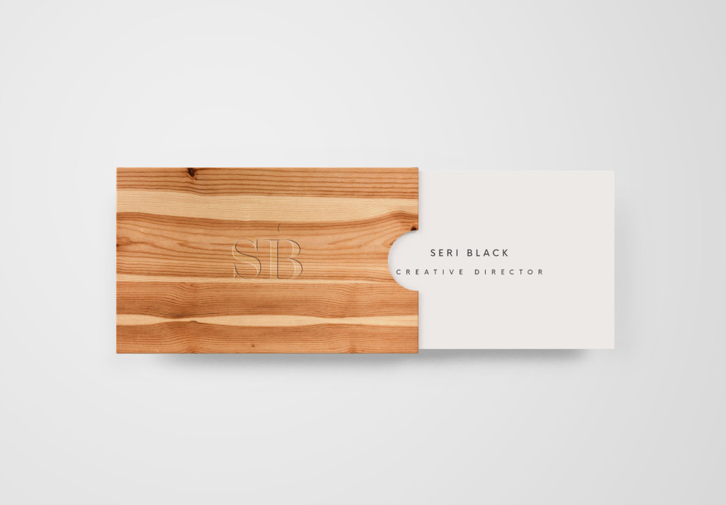 木制名片盒&名片设计样机模板 Wooden Box Business Card Mockup插图