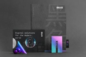 高端黑办公用品套装品牌VI设计效果图样机 Blck Branding Mockup Kit插图15