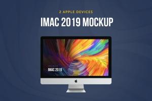 2019款iMac一体机电脑样机模板 iMac 2019 Retina Mockup插图1