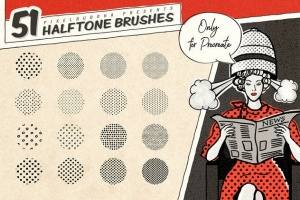 复古美式漫画效果生成Procreate笔刷 Vintage Comic Procreate Brushes插图4