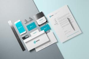 企业品牌VI设计办公文具样机模板v1 Branding / Identity Mock-up插图1