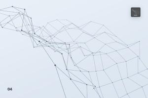 带连接线粒子抽象图形PS笔刷 Particles with Connected Lines Photoshop Brushes插图5