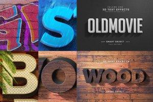 3D 文本图层样式合集 3D Text Effects Vol.2插图3
