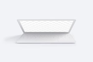 MacBook笔记本电脑前视图黏土样机02 Clay MacBook Mockup, Front View 02插图1