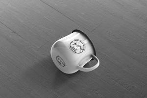 高分辨率圆形珐琅杯子样机 Round Enamel Mug Mockup插图6