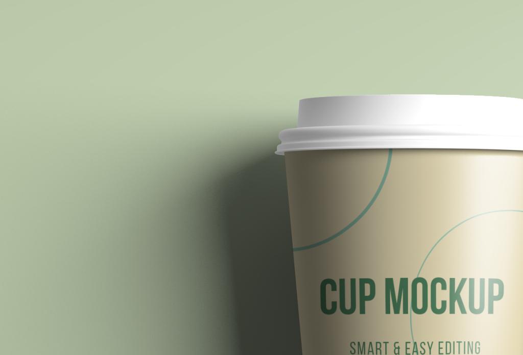 逼真的咖啡纸杯/茶杯设计图样机模板 Realistic Coffee / Tea Cup Mockup插图