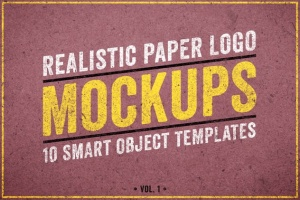 逼真复古纸张Logo设计展示样机模板Vol.1 Realistic Paper Logo Mockups Volume 1插图5