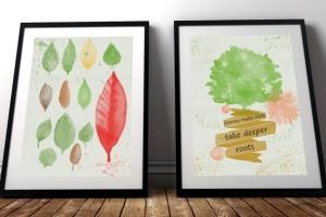 水彩花卉PS印章画笔笔刷 Floral Watercolor PS Stamp Brushes插图(11)