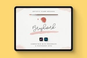 Proceate手绘设计师必备笔刷&模板素材包 Procreate Brushes & Templates Bundle插图4