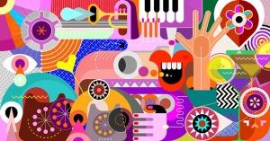 抽象艺术插画矢量背景素材 Abstract Art Vector Background插图2