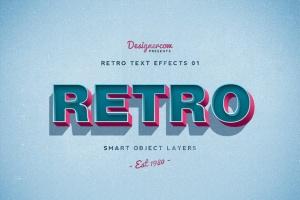 10款复古文本标题3D立体效果PS图层样式 Retro Text Effects V01插图3