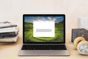 超级本笔记本电脑网页设计展示样机模板 Laptop Mock-up – Interior Set插图4