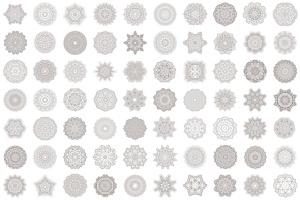 69种曼陀罗花矢量几何图形设计素材包 69 Vector Mandala – All Kinds of Complexity Set插图3