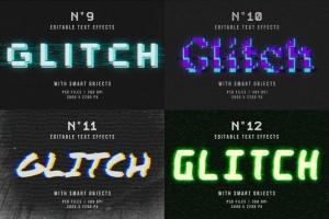 毛刺字体特效设计PSD模板 Photoshop Glitch Text Effects插图14