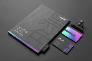 高端黑办公用品套装品牌VI设计效果图样机 Blck Branding Mockup Kit插图10