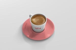 高品质的咖啡马克杯样机展示模板 Coffee Cup Mockup – Cone Shape插图3