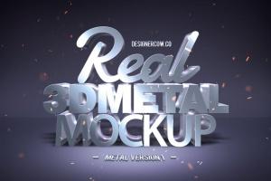 炫酷金属3D特效PSD样机模板v1 Real 3D text Mockups V1插图6