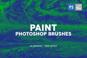 30款油漆手工纸张纹理肌理PS笔刷v1 30 Paint Texture Photoshop Brushes Vol. 1插图1