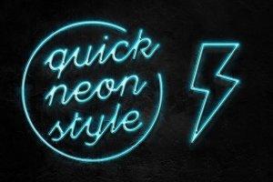 霓虹灯字体文本图层样式 Neon Pro text effect插图1