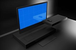 暗黑背景iMac Pro苹果一体机电脑样机模板 Dark iMac Pro插图12