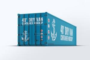 40英尺集装箱外观图案设计样机模板 40ft Dry Van Container Mock-up插图6